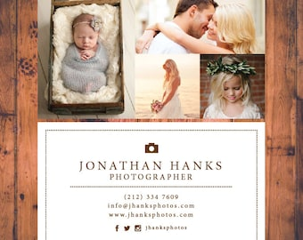 Premade Modern Photography Business Card Calling Card Business Card Template Custom Business Card Design BC006