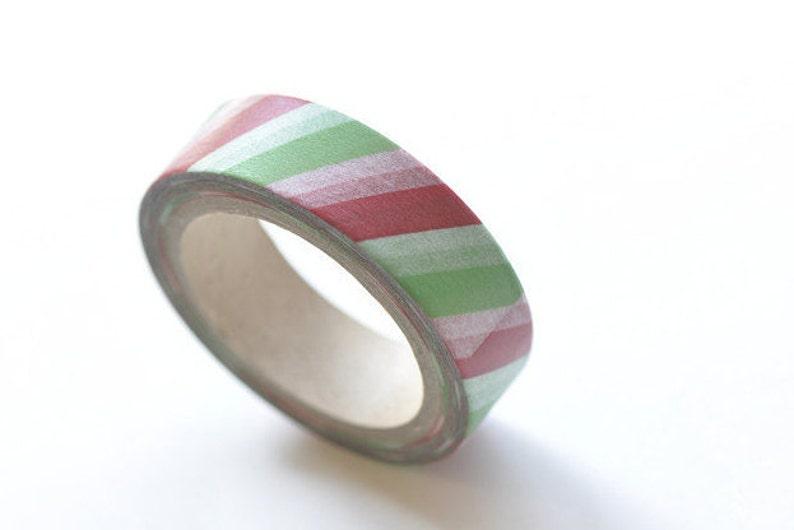 Colourful Stripes Deco Washi Tape 15mm x 10M Roll No.10570
