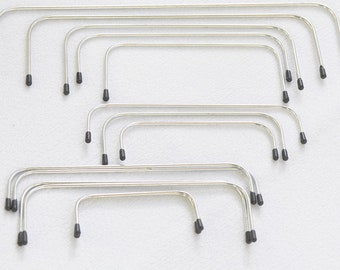"One Pair Internal Purse Frame Rectangular Internal Wire Frames 10cm(4""), 13cm(5""), 15cm(6""), 20cm(8""), 25cm(10""), 30cm( 12"") Pick Up Size"