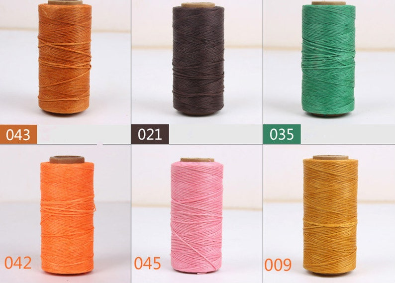 200 meters 218 yards Flat Waxed Polyester Thread For Leather Craft Hand Sewing Essential 1mm 210D
