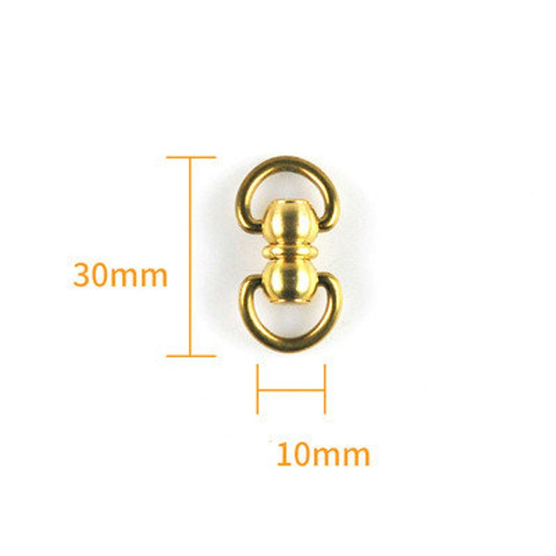 Brass Screwed Studs Back Pull Ring Button Leather Hardware