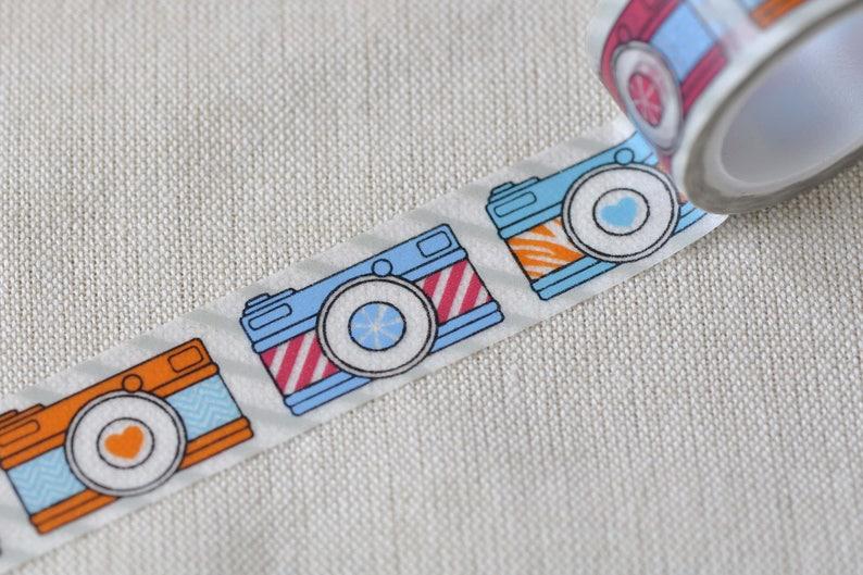 Cartoon Camera Washi Tape Masking Tape 20mm Wide x 5M Roll No.12468