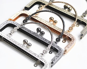 18.5cm and 20cm Purse Frame Sewing Handle Purse Frame Four Colors