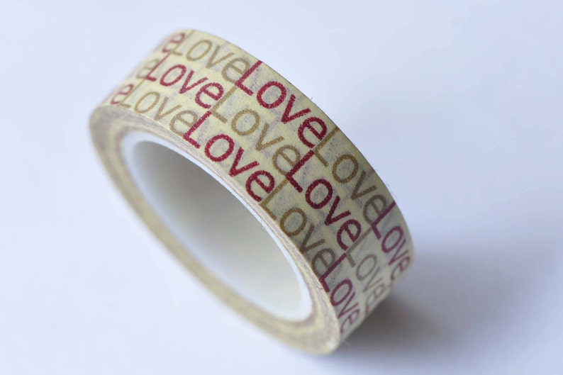 Love Adhesive Planner Washi Tape 15mm x 10M Roll No.12776