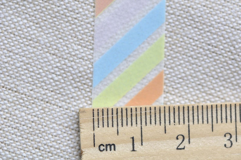 Colourful Translucent Stripes Deco Washi Tape 15mm Wide x 10M Roll No.12492