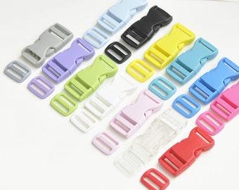 """Plastic Strap Adjuster Strap Slider Messenger Bag Set Various Color Inner Size 25mm(1"""") Pick Color"""
