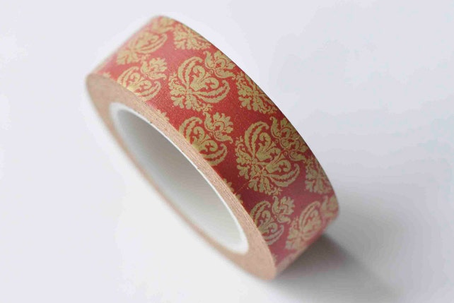Daisy Flower Pattern Washi Tape Scrapbook Supply 15mm Wide x 10M Roll  No.12850