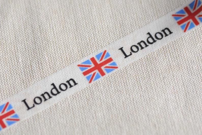 United Kingdom Flag London Washi Tape 15mm Wide x 10M Roll No.12574