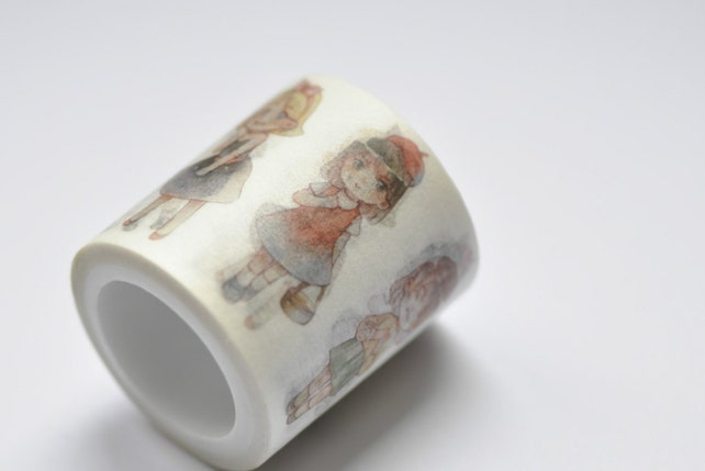 Lovely Girl/ Cute Baby/ Kids Washi Tape 40mm wide x 5m long (approx. 1.6 inch wide x 5.5 yards long) No.12109