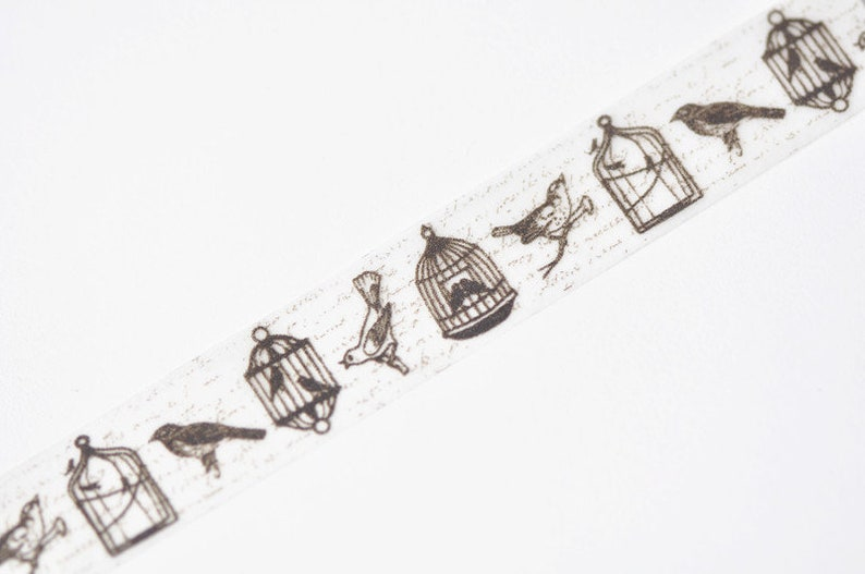 Birds Washi Tape Japanese Masking Tape 20mm wide x 5M No.12416