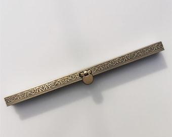 19cm Retro Wedding Purse Frame Bar Lock Wallet Purse Frame Bronze Color Sewing Style