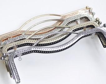 "20.5cm (8"")/ 27cm (10"") Purse Frame Clutch Bag Making Bronze Silver Gunmetal Light Gold Four Colors Available"
