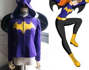 Batgirl Cosplay Hoodie Costume