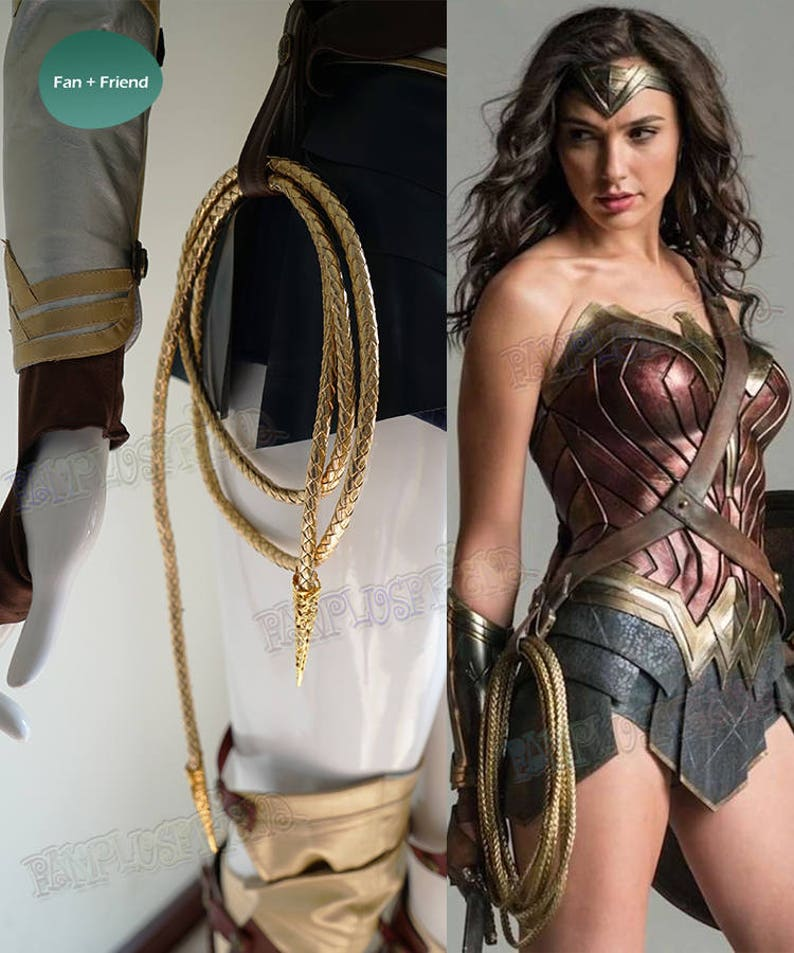 Wonder Woman Costume Cosplay Accessory Golden Lasso of Truth  bef918d948b0
