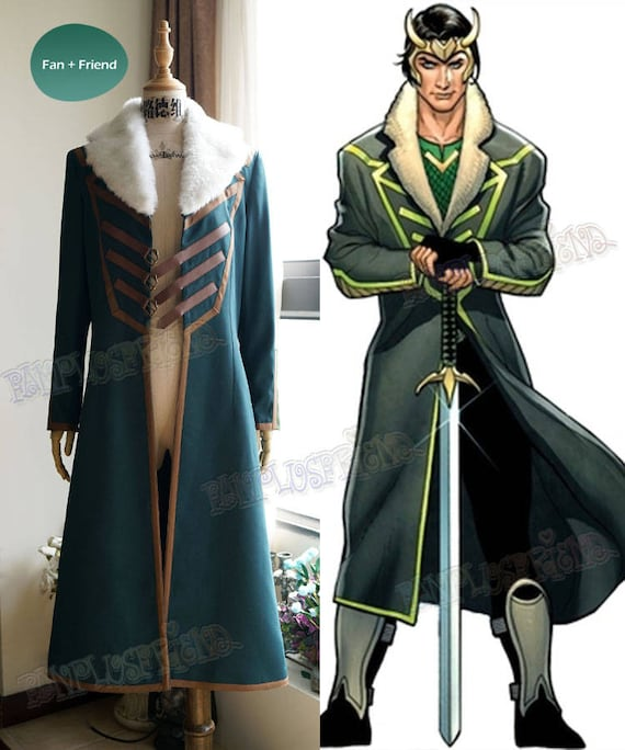 Loki Agent Of Asgard Cosplay Loki Coat Costume Etsy