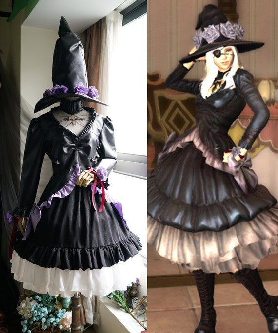 Final Fantasy XIV Cosplay FF14 Csilla Beleth Maid Costume maid uniform dress