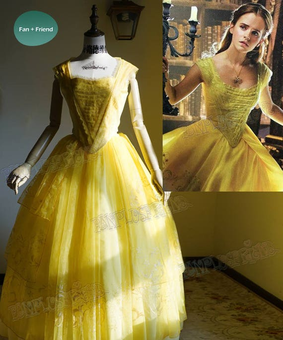 Beauty And The Beast 2017 Movie Cosplay Belle Yellow Ball Etsy