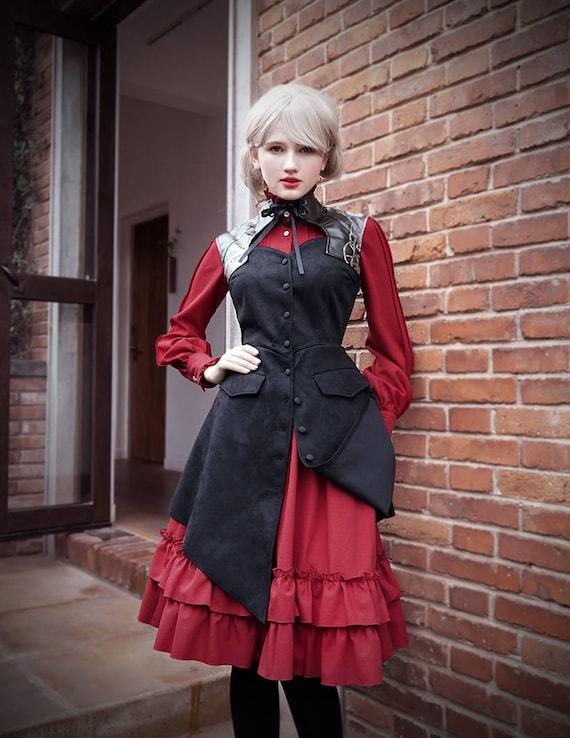 6de56d767b4 Gothic Steampunk Retro Steel Boned Corset Dress JacketBlack