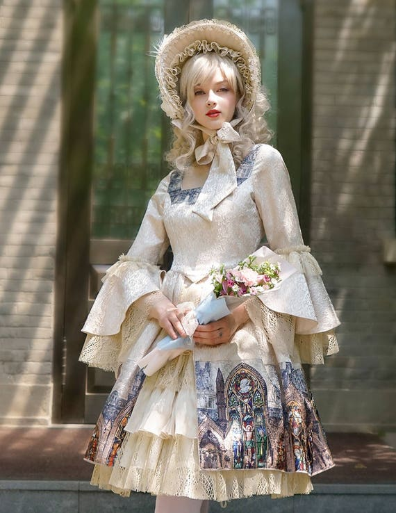 Vintage Lolita Retro-Rokoko Mode Midi Kleid Womens Prom Kleid   Etsy