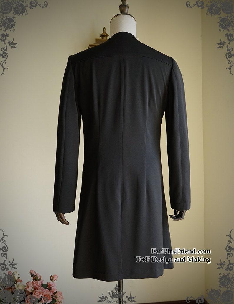 Vintage Light Jacket for Men Overshirt Ancient Summer Robe Black Grey