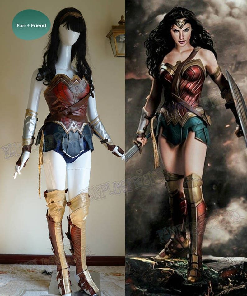 Wonder Woman Cosplay Adult Women Leather Armor Corset Skirt  22dc3dd655c1