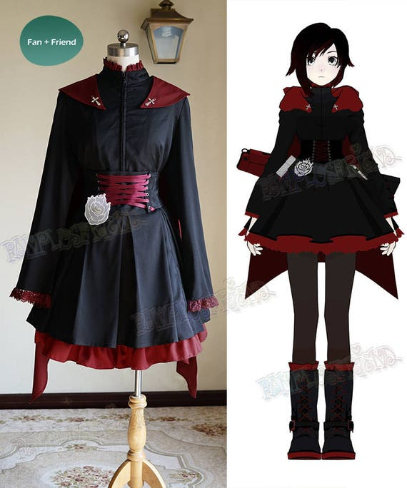 Rwby Cosplay Ruby Rose Gothic Outfit Costume Etsy