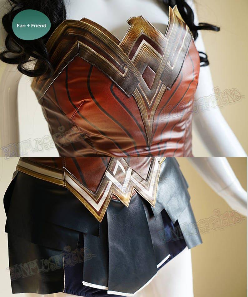 Mujer Maravilla Cosplay mujeres adultas cuero armadura corsé  91967f7b9c73
