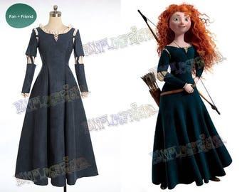 Brave (Disney film) Cosplay Princess Merida Costume Outfit