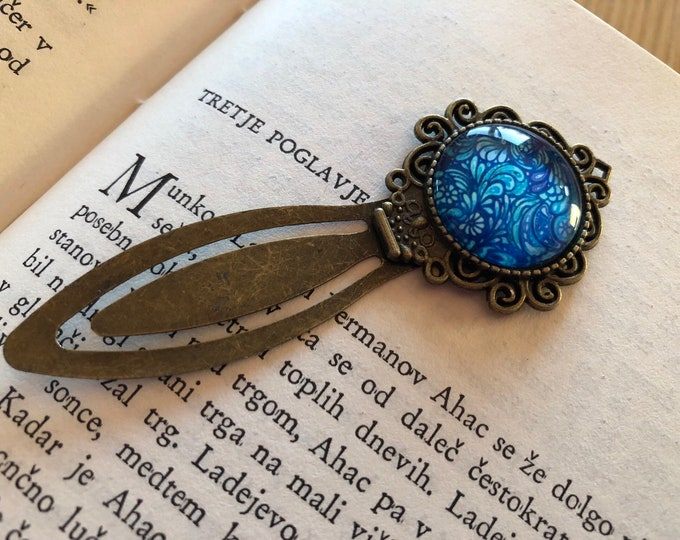 Bookmark, Antique Silver, Unique Bookmark, Book Mark for Home Library