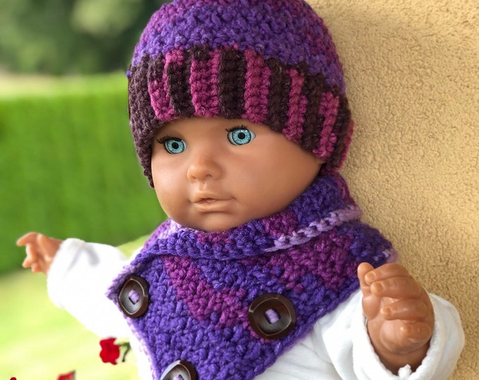 Crochet hat, Crochet Scarf, Soft woll, Child crochet hat, Baby set, Crochet hat for baby, Hat for toddlers,