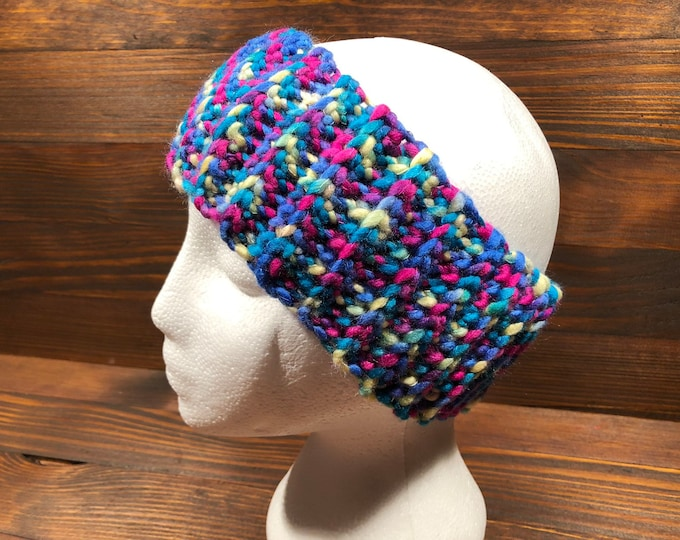 Crochet headband, Adult headband, Teen headband, Soft Woll, Colorful