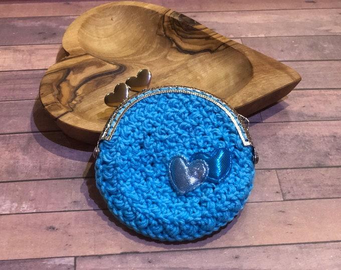 Coin Purse, Crochet Wallet, Handmade Crochet Wallet, Cute Purse, Purse With Frame, Crochet Coin Purse
