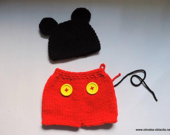 Baby Crochet Mickey custome -  Crochet Photography Prop