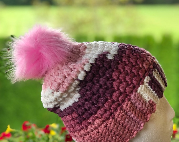 Crochet hat, Adult hat, Teen hat, Colorful , Unique