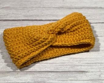 Merino superwash, Crochet earwarmer, Adult headband, Teen headband, Soft 100% merino yarn