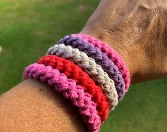 Crochet Bracelet - Simple Bracelet - Casual Bracelet - Chain Lobster Clasps Connectors