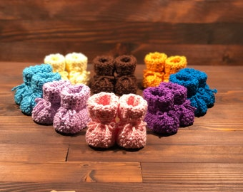 Crocheted slippers - Marino Superwash - Limited Edition - New - Newborn Baby - Baby - Baby Gift