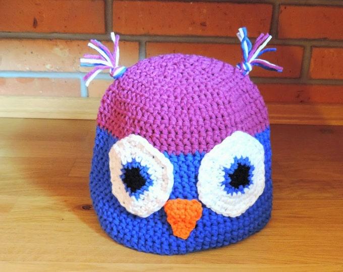 Crochet hat, Owl,Crochet owl hat, Baby owl hat, Boys owl hat, Boys winter hat, Hat for toddlers,Child owl hat, Owl hat for baby,