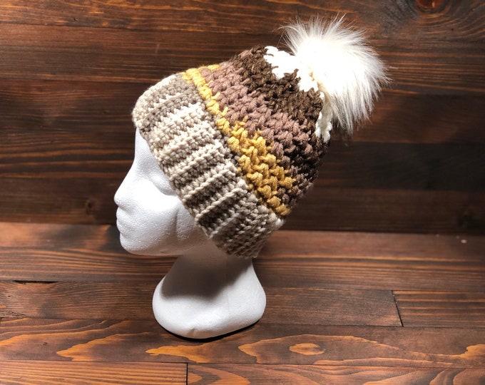 Crochet hat, Adult hat, Teen hat, Soft colours