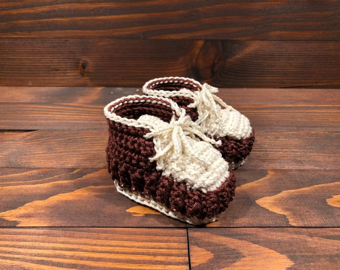 Crocheted slippers - Cotton - Crochet - Baby gift - Baby Girl Baby Boy (0-3 months )