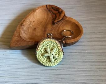 Crochet Purse Green Keychain Sea Seaedition