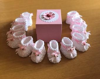 Confetti - Handmade Box - Guests Gift- Christening - Cotton - Crochet - Baby gift - Baby Confetti