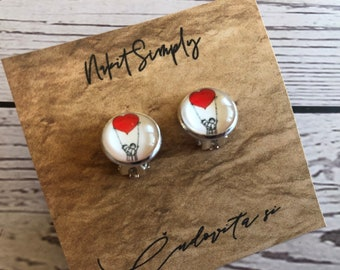 Cabochon Clip Earring, Cabochon Earring 10 mm, 12mm, Clip, Gift, Jewelry, Earings, Nr.9