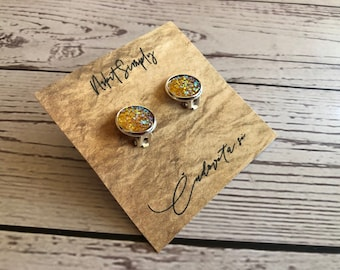 Cabochon Clip Earring, Cabochon Earring 10 mm, 12mm, Clip, Gift, Jewelry, Earings, Nr.1