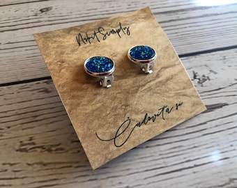 Cabochon Clip Earring, Cabochon Earring 10 mm, 12mm, Clip, Gift, Jewelry, Earings, Nr.4