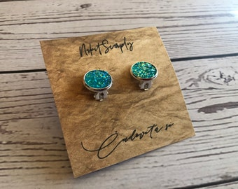 Cabochon Clip Earring, Cabochon Earring 10 mm, 12mm, Clip, Gift, Jewelry, Earings, Nr.8