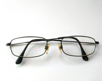 Vintage 90s Black Vogue Secretary Eyewear/Made in Italy