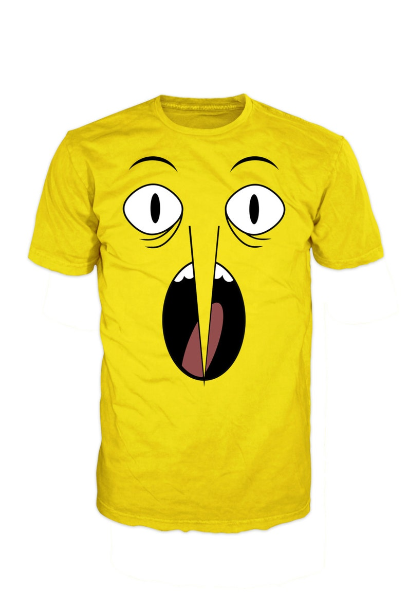 8654a9fdbdc ADVENTURE TIME Lemon Grab face T-shirt. Inspired by the hit