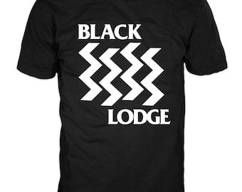 Black Lodge T-Shirt, black flag punk, comedy, david lynch, twin peaks