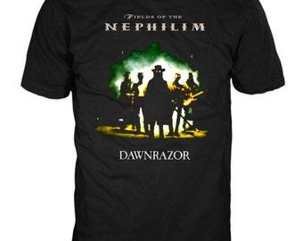 Fields Of The Nephilim - Dawnrazor Colour 100% Cotton Licensed FOTN T-shirt